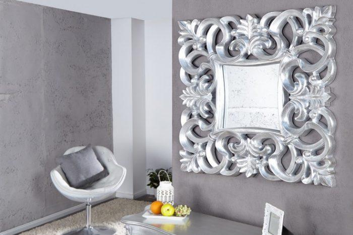 Barokowe lustro VENICE 75cm srebrne