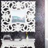 lustro barokowe VENICE białe 75cm