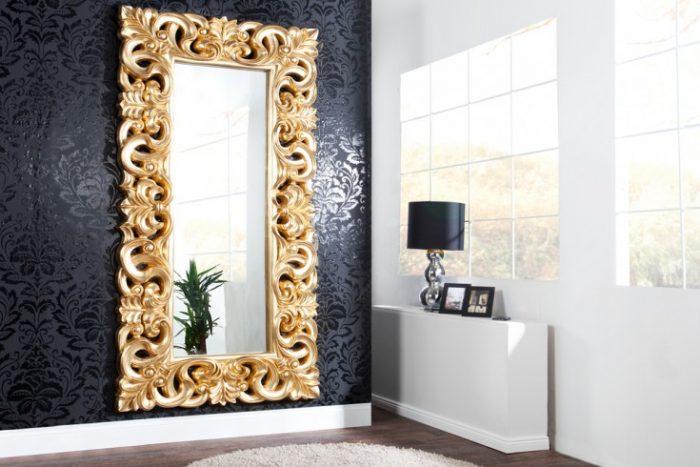 Barokowe lustro Venice złote 90×180