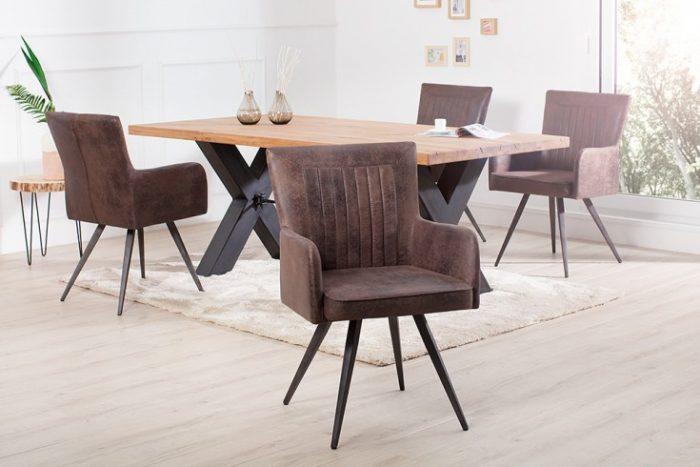 Krzesło tapicerowane ROADSTER antyczny brąz retro