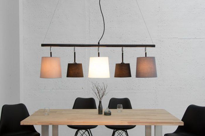 Nowoczesna lampa wisząca Levels 100cm czarny, szary, biały