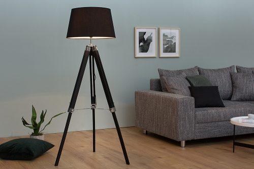 Nowoczesna lampa podłogowa stojąca Sylt czarna