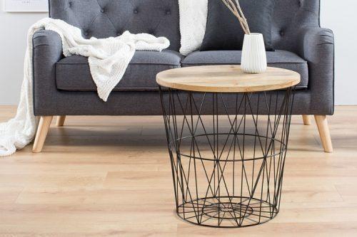 Nowoczesny stolik kawowy STORAGE 52cm czarny