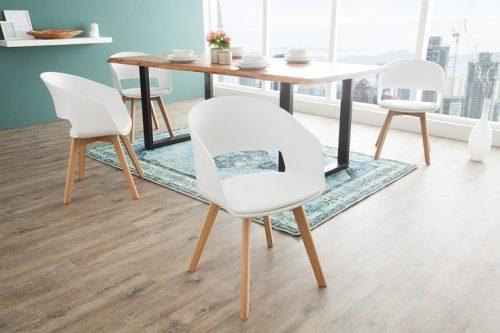 Białe krzesło NORDIC STAR w skandynawskim stylu