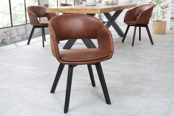 Krzesło NORDIC STAR antyczny brąz