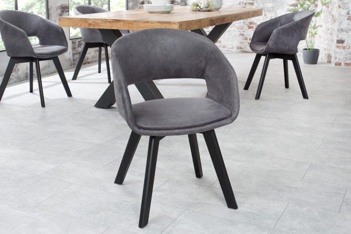 Krzesło NORDIC STAR ciemne szare