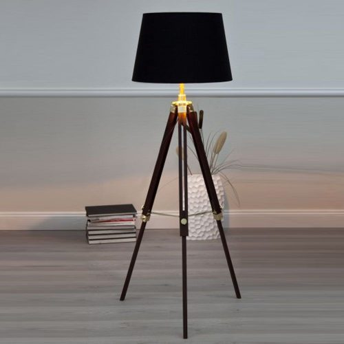 SYLT Nowoczesna lampa podłogowa stojąca tripod brąz