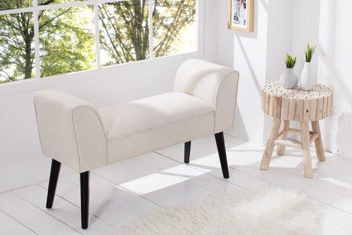 Elegancka ławka SCARLET kremowa 90cm
