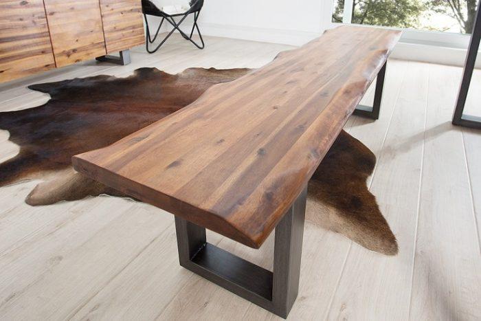 Ławka GENESIS 160 cm lite drewno akacja