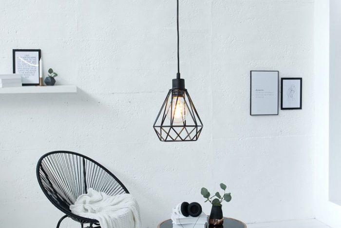 Lampa wisząca CAGE S czarna industrialna