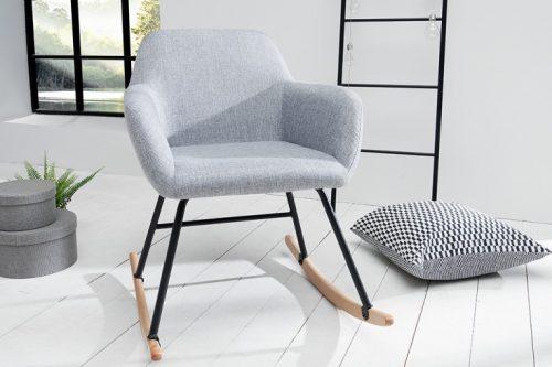 Fotel bujany BALTIC jasnoszary