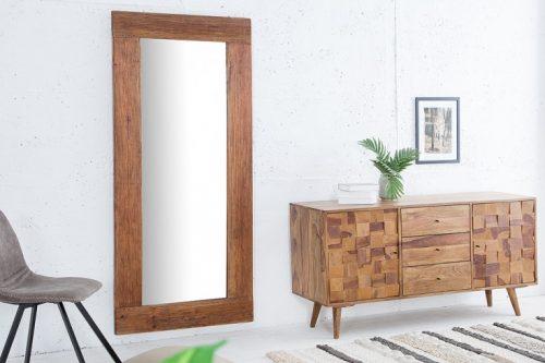 Masywne lustro HEMINGWAY 180cm drewno tekowe