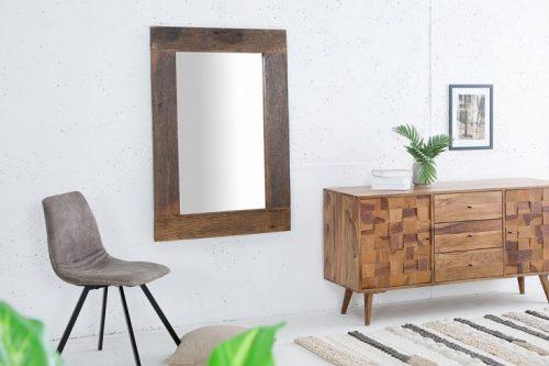 Masywne lustro HEMINGWAY 120cm drewno tekowe