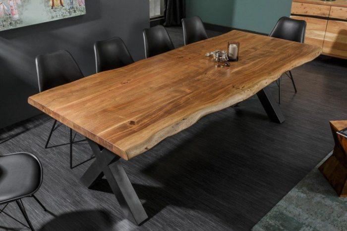 Stół  MAMMUT 200cm lite drewno akacjowe 6cm