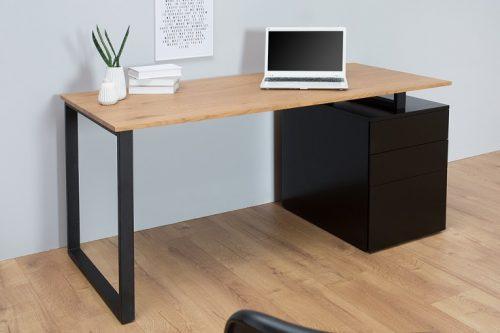 Ekskluzywne biurko Compact 160 cm czarny matowy dąb