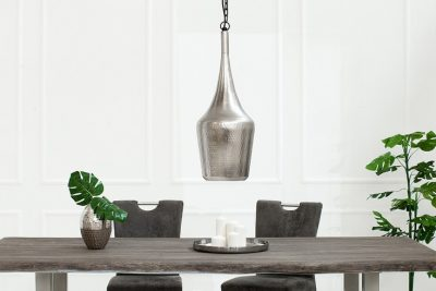 Nowoczesna lampa wisząca ORIENT S srebrna