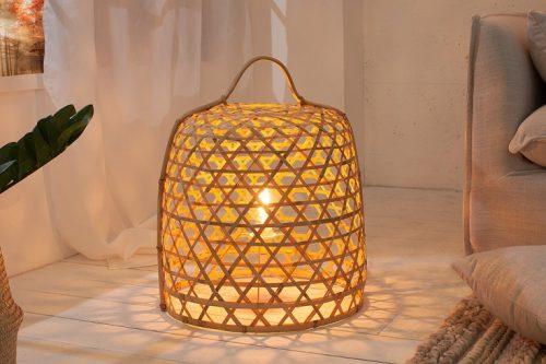 Lampa podłogowa BAMBOO brązowa bambusowa 45CM