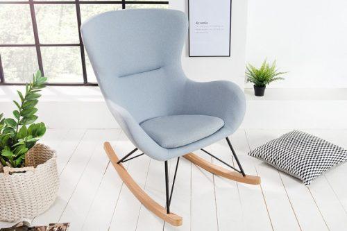 bujany fotel SCANDINAVIA SWING jasnoniebieski skandynawski styl