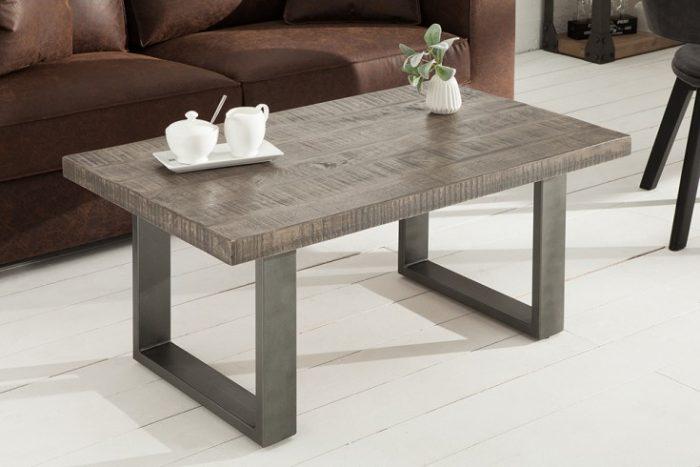 Masywny stolik kawowy IRON CRAFT 100cm