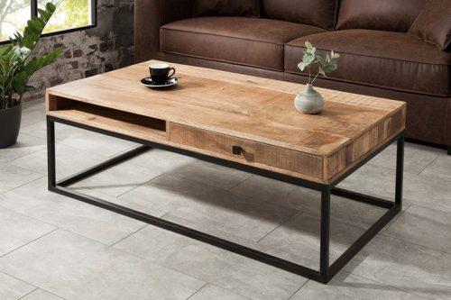 Masywny stolik kawowy IRON CRAFT 110cm
