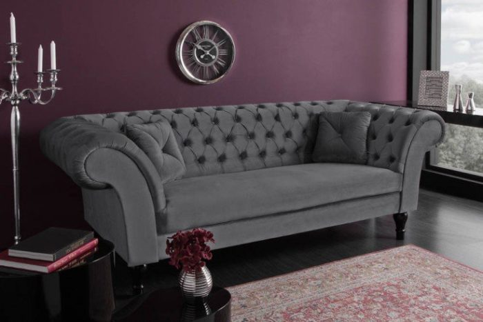 Sofa Chesterfield PARIS 225cm aksamitna
