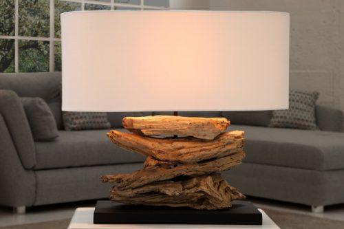 Lampa stołowa RIVERINE biały klosz
