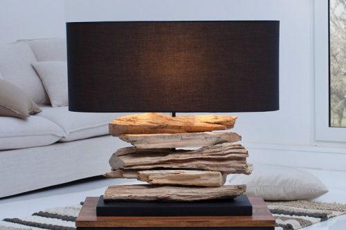 Lampa stołowa RIVERINE czarny klosz