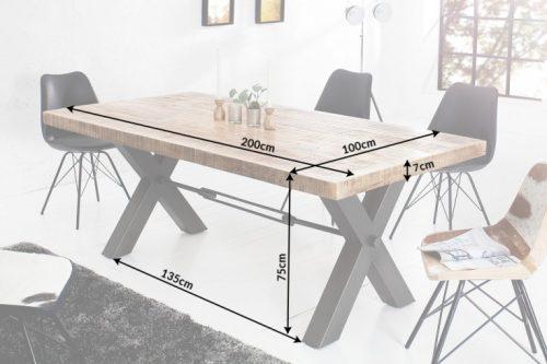 Masywny stół IRON CRAFT 200cm lite drewno