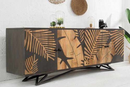 Solidny kredens TROPICAL 175cm Mango drewno  płozy
