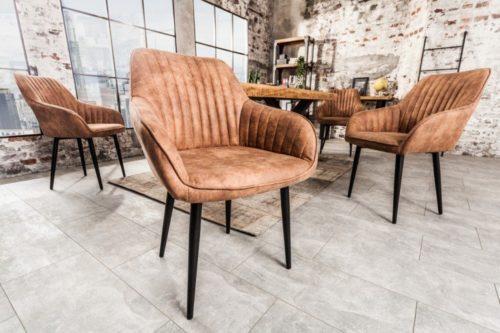 Krzesło TURIN vintage jasnobrązowe
