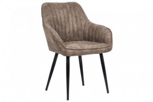 Krzesło TURIN vintage ciemnoszare podłokietniki