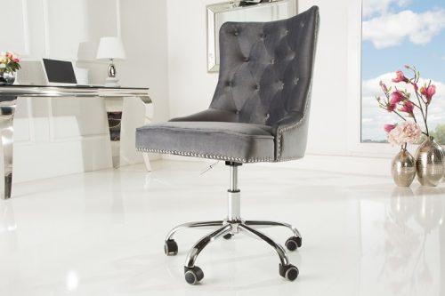 Krzesło biurowe VICTORIAN srebnoszare Invicta Interior