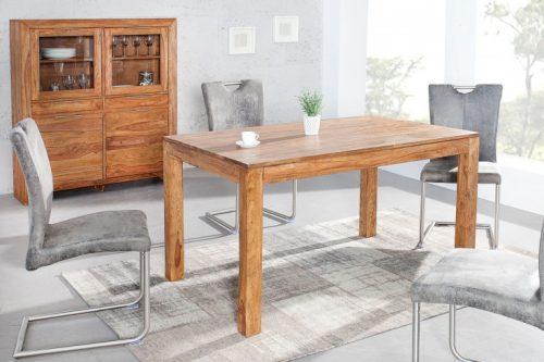 Ekskluzywny stół z litego drewna PURE 140cm x 90cm drewno Sheesham