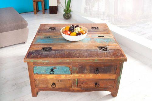 Masywny stolik kawowy JAKARTA 70cm szuflady