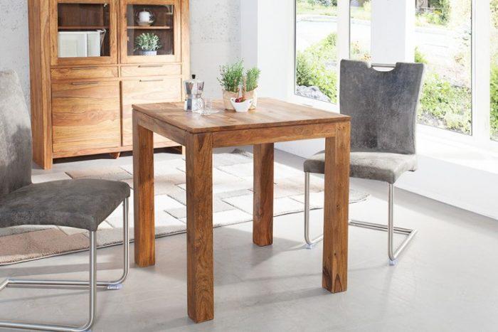 Stół PURE 70 x 70 cm drewno Sheesham