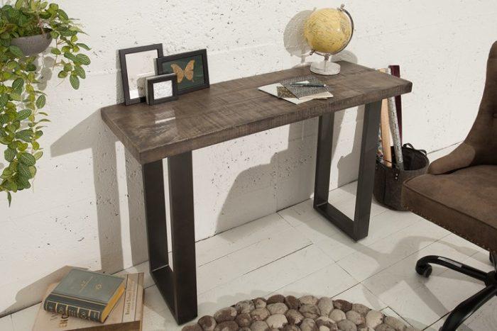 Stół / konsola IRON CRAFT 115cm industrialny styl szary