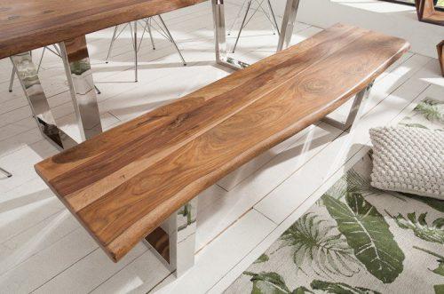Ławka Mammut 180 cm drewno lakierowane Sheesham