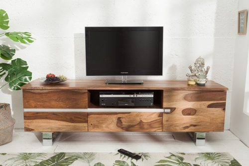 Komoda TV MAMMUT 160cm drewno Sheesham