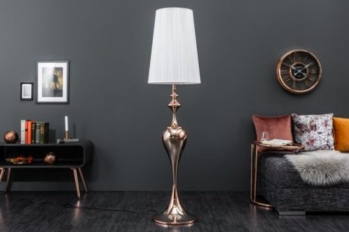 Nowoczesna lampa podłogowa LUCIE różowe złoto