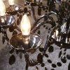 Żyrandol Royal Nowoczesny kryształowy 15 ramienny czarny