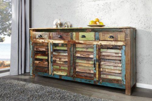 Kredens / komoda JAKARTA drewno z recyklingu 160cm