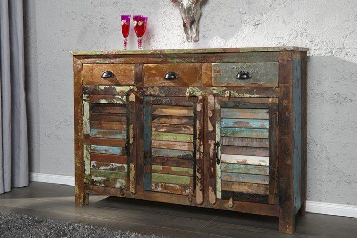 Kredens / komoda JAKARTA drewno z recyklingu 125cm