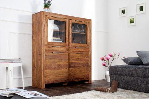 Masywny kredens PURE 120cm drewno Sheesham