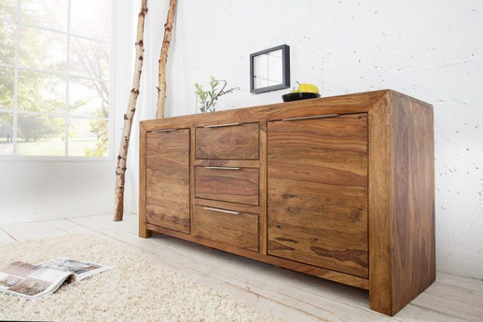 Komoda PURE 135cm drewno Sheesham