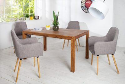 Skandynawskie krzesło OSLO jasnoszare