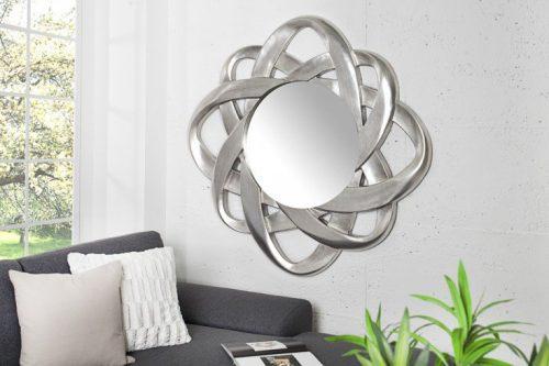 Nowoczesny lustro INFINITY srebrne 95x95cm