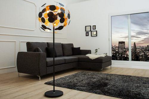 lampa podłogowa INFINITY 170 cm czarne złoto