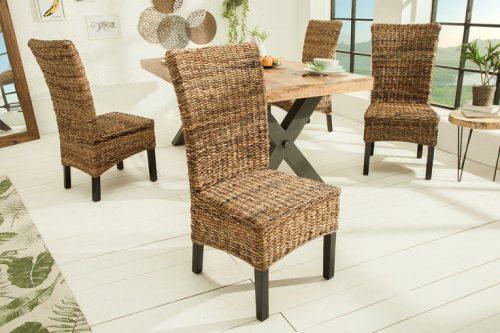 Eleganckie krzesło do jadalni BALI drewno mango