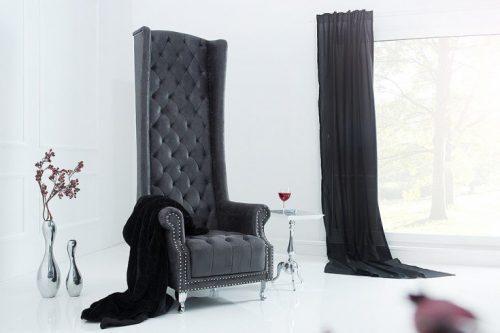 Fotel Heritage antyczny szary ekskluzywny