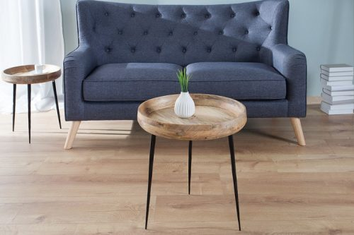 Elegancki stolik PURE NATURE 47cm wykonany z drewna mango